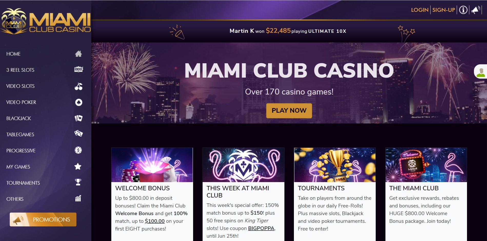 Miami Club Casino Singapore